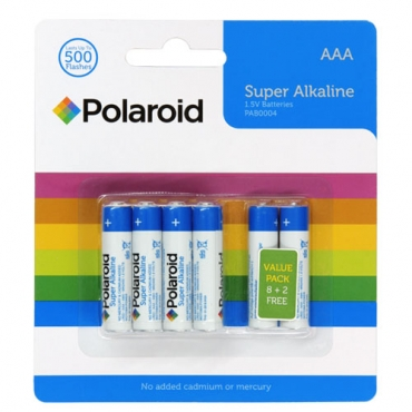 Polaroid AAA Alkaline Batteries (10 pack)