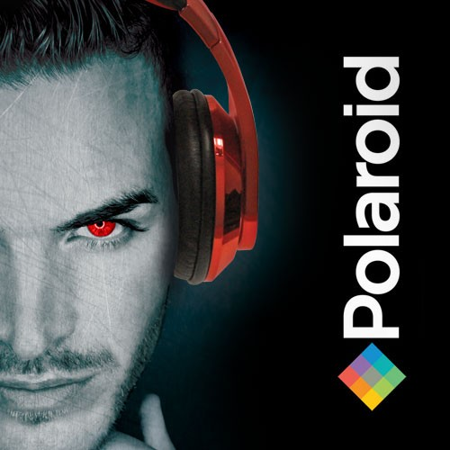 polaroid-metallic-headphonesred