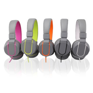 Polaroid PHP140 Foldable stereo headphones with inline mic