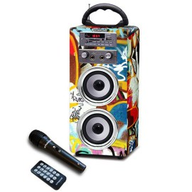 Polaroid Portable BLUETOOTH Karaoke Beat Box Speakers with FM Radio