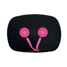 Polaroid Earphones With Tangle Free Flat Cable And Microphone Rophone – Pink